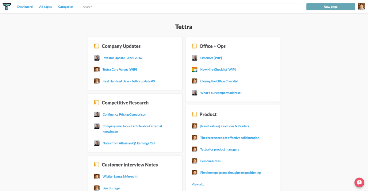 Tettra Beta: An internal wiki built for Slack teams