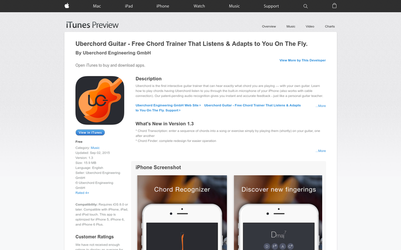 Uberchord Guitar - Free Chord Trainer That Listens & Adapts to You ...