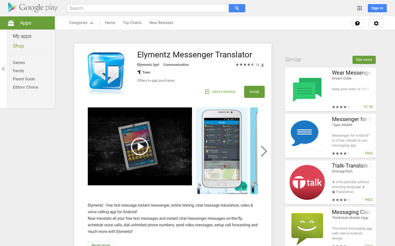 Elymentz Messenger Translator - Android Apps on Google Play