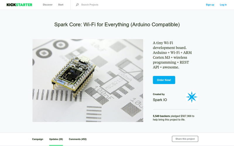 Spark Core: Wi-Fi for Everything