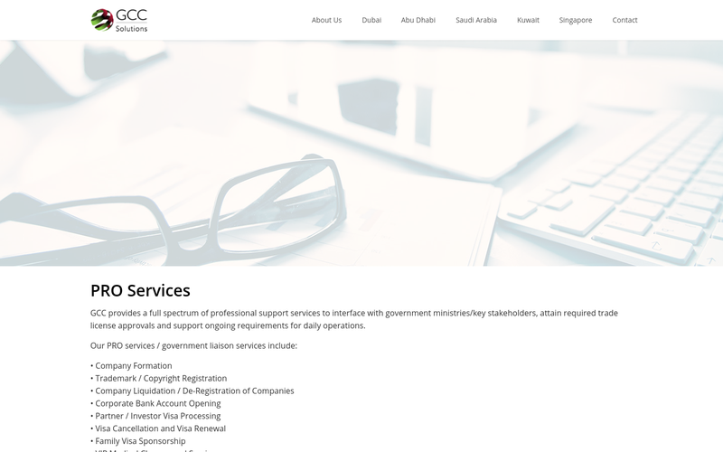 Administrative Services Abu Dhabi, Professional PRO Services