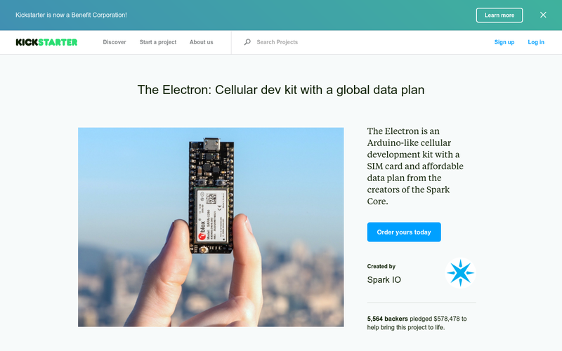 The Electron: Cellular dev kit with a global data plan