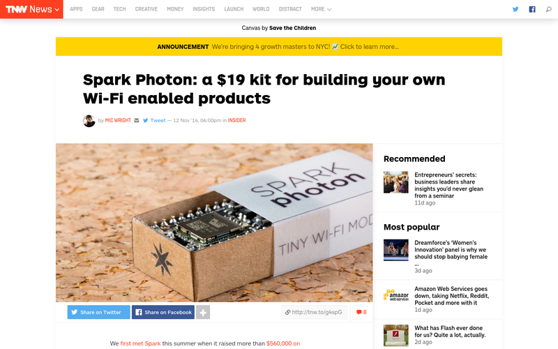 The Photon: The $19 Internet of Things Kit