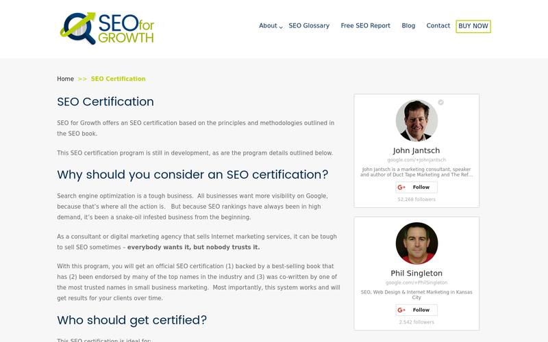 SEO Certification | Search Engine Optimization Certifications ...