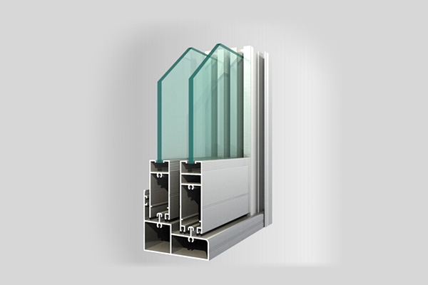 Aluminium sections for doors and windows