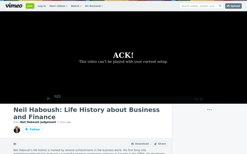 Neil Haboush: Life History about Business and Finance