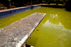 Old dirty outdoor pool