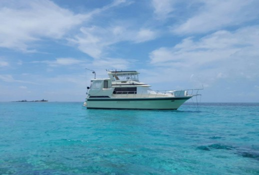 Betty Ann at anchor Westend Bahamas