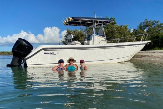 My 26' Boston Whaler Out On Charter