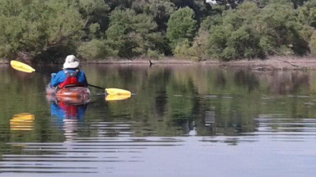 Kayaking at White Horse Lake.