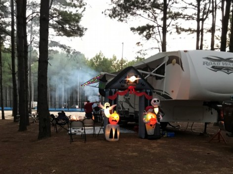 RV Camping for Fall Festival with the family.