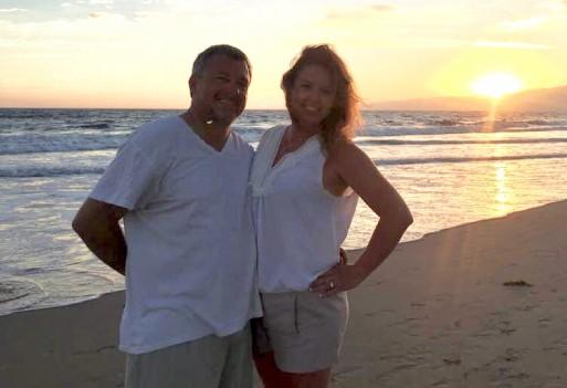 Wife and I in Santa Monica,  Ca