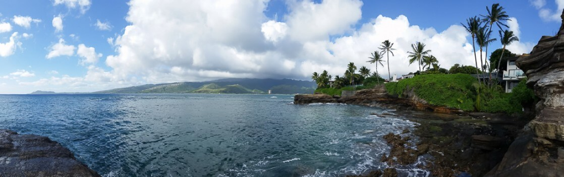 Hawaii view of the 'Punch Bowl'. One of the many reason I fell in love with the ocean.