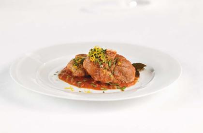 Photo de la recette de Osso buco de porc aux oignons caramélisés et à l'orange
