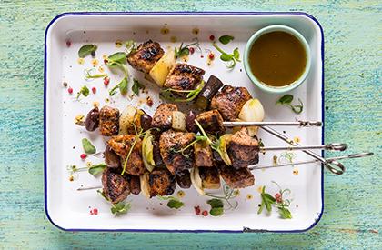 Photo de la recette de Brochettes de porc à la provençale
