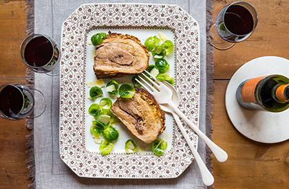 Photo de la recette de Flanc de porc confit en croûte d'érable