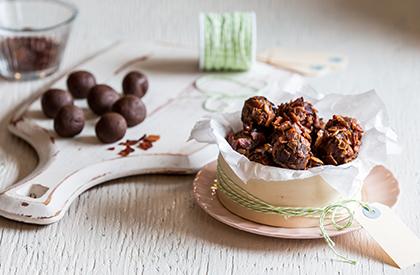 Photo de la recette de Truffes chocolat et bacon