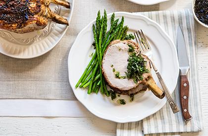 Photo de la recette de Carré de porc au thé et à la menthe