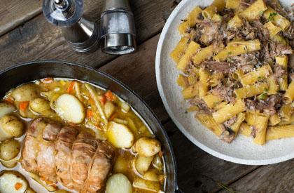 Photo de la recette de Épaule aux champignons + Fesse de porc au sirop d'érable