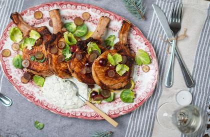 Photo de la recette de Côtelettes de porc façon