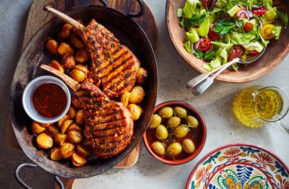 Photo de la recette de Côtelettes de porc piri-piri