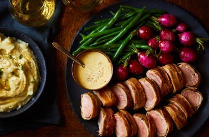 Photo de la recette de Filet de porc à la moutarde de la famille Loranger