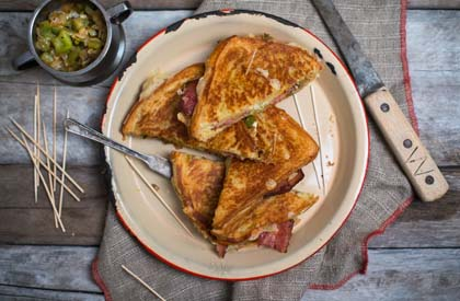 Photo de la recette de Grilled cheese réinventé au bacon