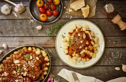 Photo de la recette de Osso buco de porc à l'italienne et gnocchis