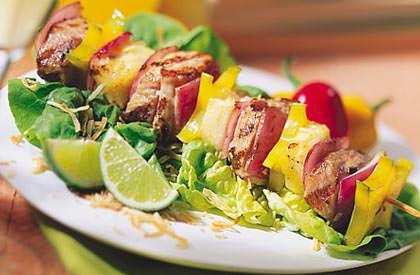 Photo de la recette de Brochettes de porc exotique