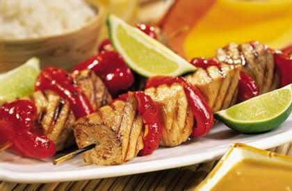 Photo de la recette de Brochettes satay, sauce à l'arachide