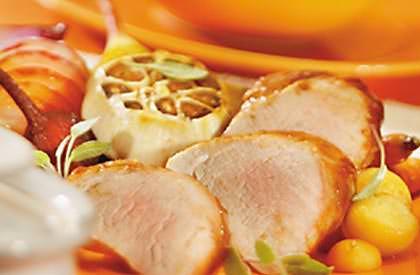 Photo de la recette de Filets de porc aux cinq joyaux