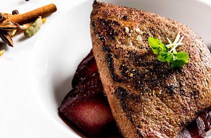 Photo de la recette de Foie de porc et pommes aux épices