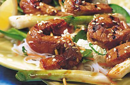 Photo de la recette de Salade de vermicelles et porc teriyaki