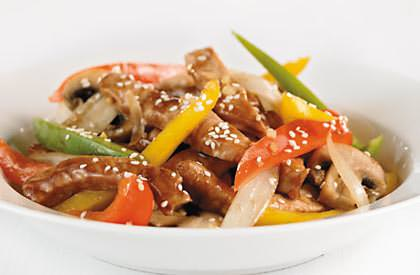 Photo de la recette de Sauté de porc à la sauce hoisin