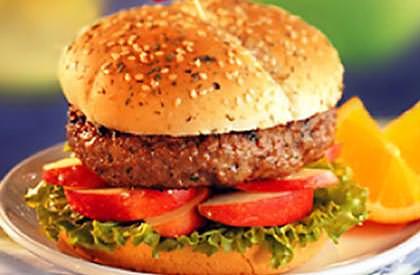 Photo de la recette de Burgers dijonnais fruités