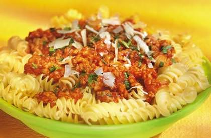 Photo de la recette de Rotinis sauce Bolognaise