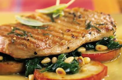 Photo de la recette de Steaks de porc aux pommes