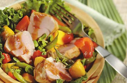 Photo de la recette de Filets de porc et légumes aux épices orientales cuits en papillotes