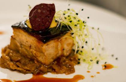 Photo de la recette de Flanc de porc confit bière noire et épices