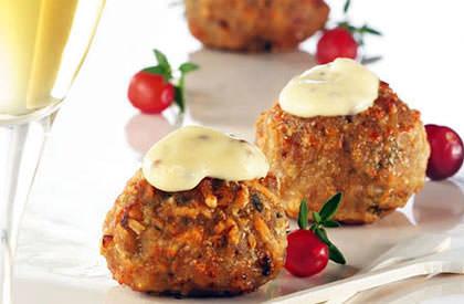 Photo de la recette de Boulettes de porc aux canneberges et parmesan