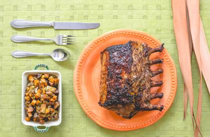 Photo de la recette de Carré de porc au balsamique et romarin