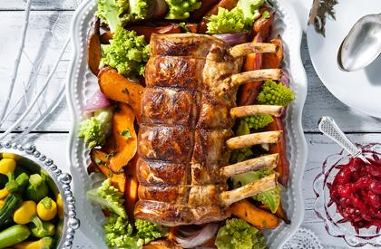 Photo de la recette de Carré de porc épicé et chutney de canneberges