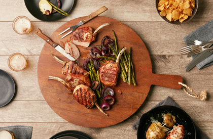 Photo de la recette de Côtelettes de porc au prosciutto et au poivre