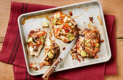 Photo de la recette de Escalopes de porc et courgettes