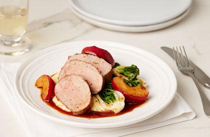 Photo de la recette de Filet de porc aux pommes