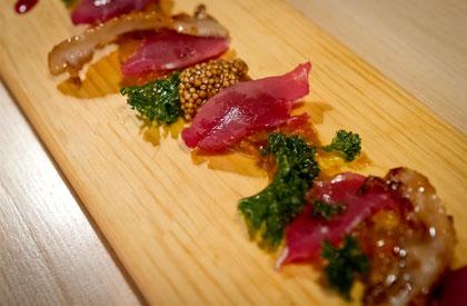 Photo de la recette de Porc séché et chutney de mangue