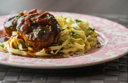 Photo de la recette de Osso buco de porc du Québec au barbecue