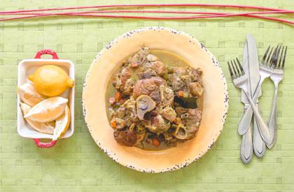 Photo de la recette de Osso buco de porc au citron de Stefano Faita