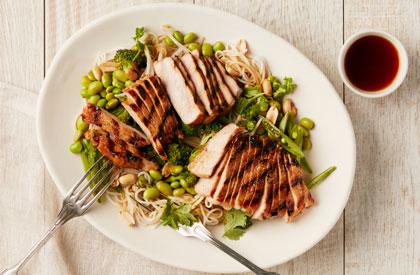 Photo de la recette de Salade de porc à l'orientale
