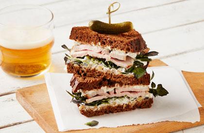Photo de la recette de Sandwichs gourmets de porc au cresson